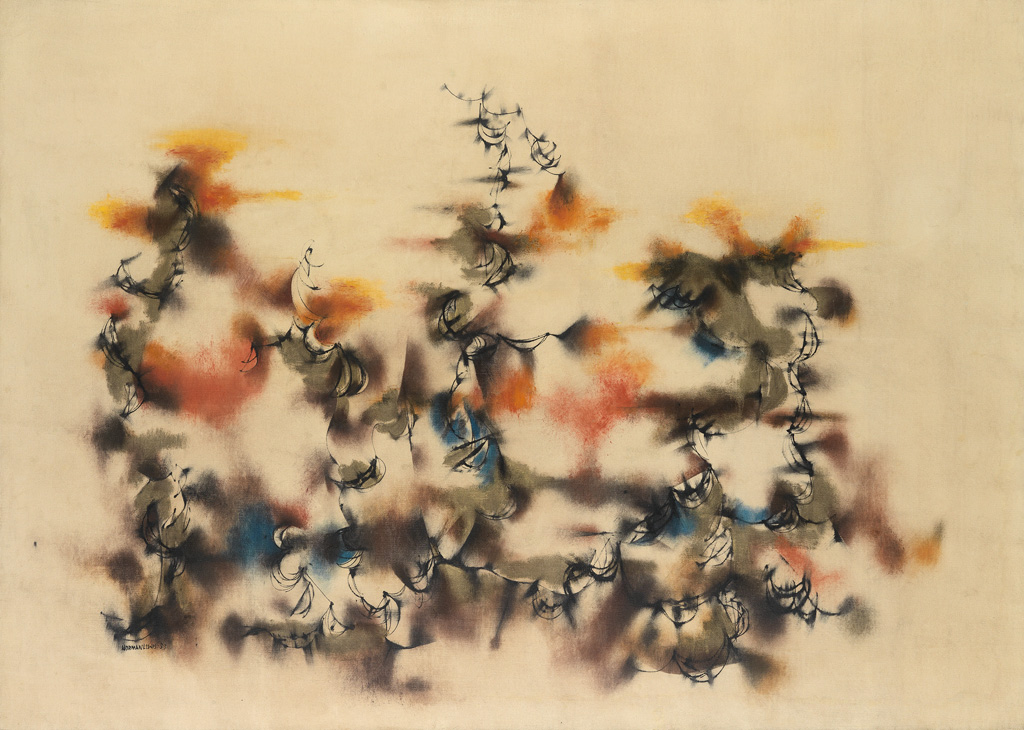 NORMAN LEWIS (1909 - 1979) Birds In Flight.