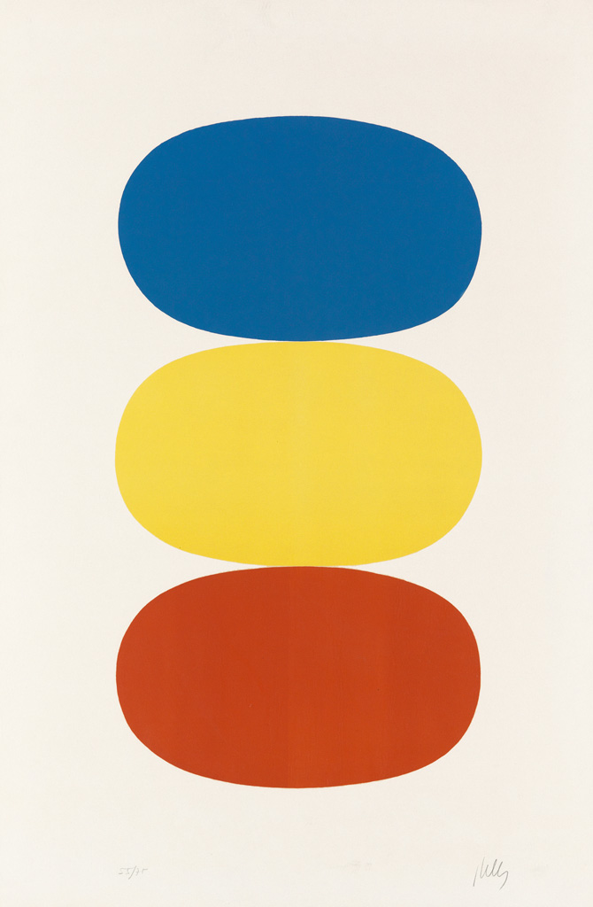 ELLSWORTH-KELLY-Blue-and-Yellow-and-Red-Orange