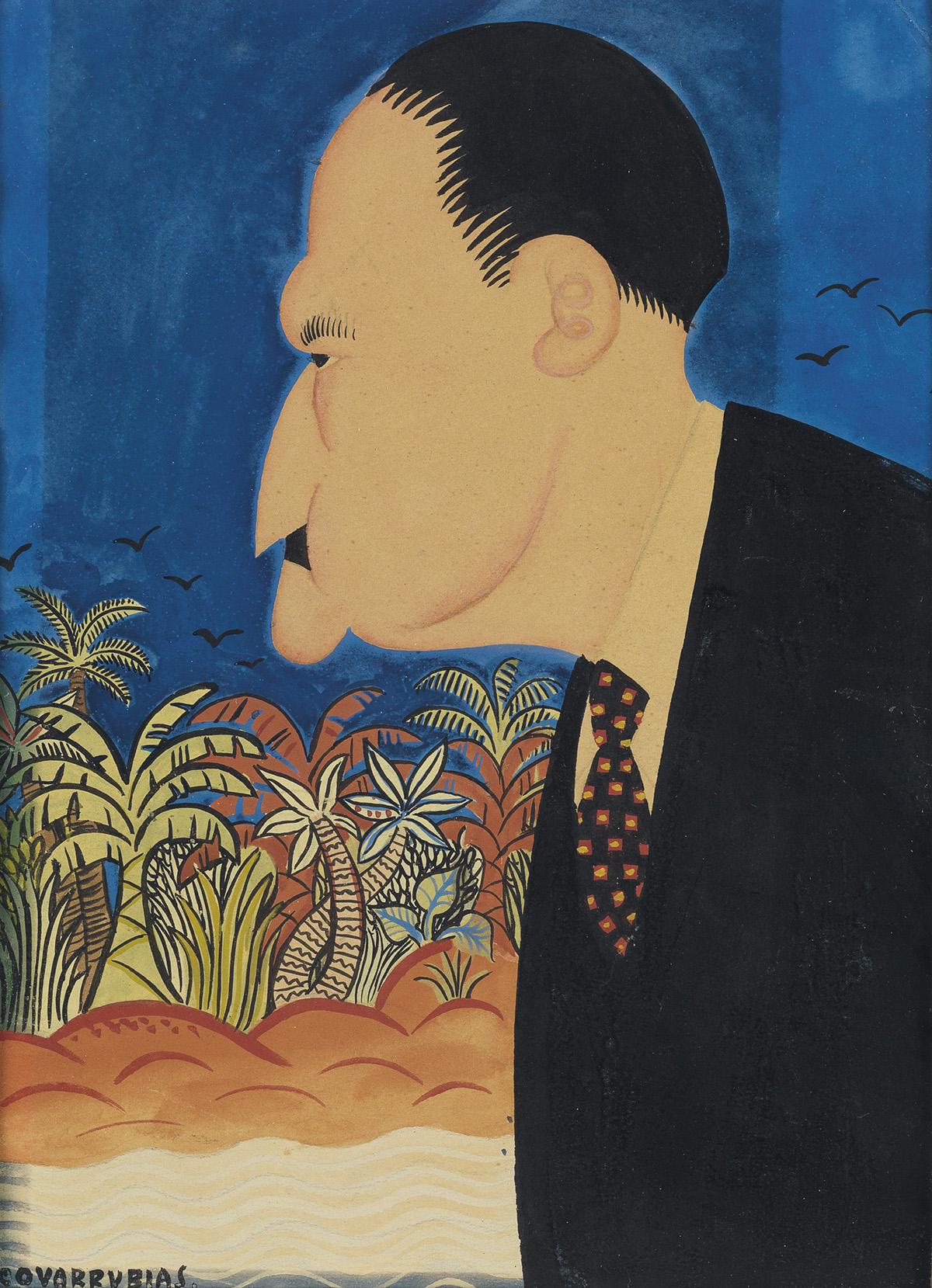 MIGUEL-COVARRUBIAS-Portrait-of-Somerset-Maugham