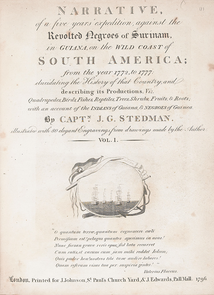 (SLAVERY AND ABOLITION--SLAVE UPRISINGS.) STEDMAN, CAPTAIN JOHN GABRIEL. Narrative of a Five Years Expedition Against the Revolted Nat