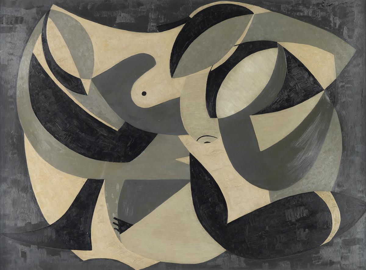 WALTER SANFORD (1912 - 1987) Study in Black & White.