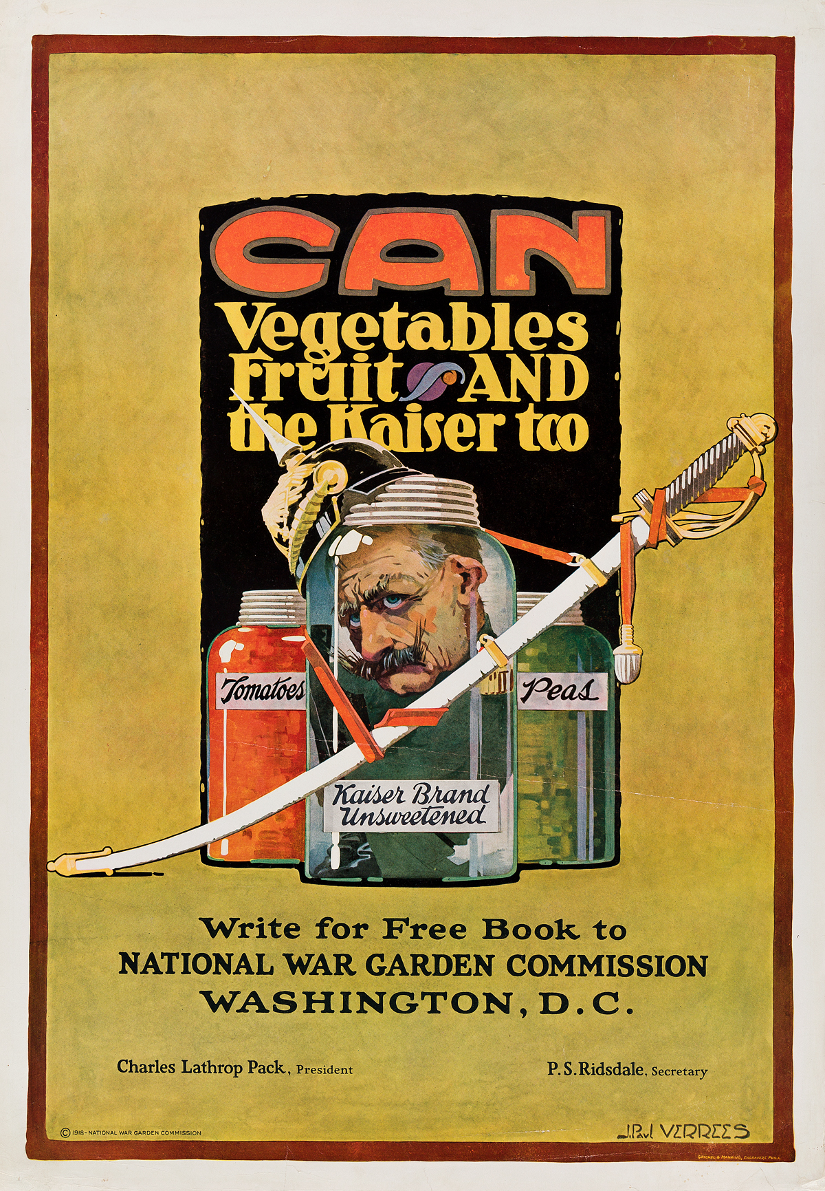 J-PAUL-VERREES-(1889-1942)-CAN-VEGETABLES-FRUITS-AND-THE-KAISER-TOO-1918-32x22-inches-81x56-cm-Gatchel--Manning-Philadelphia