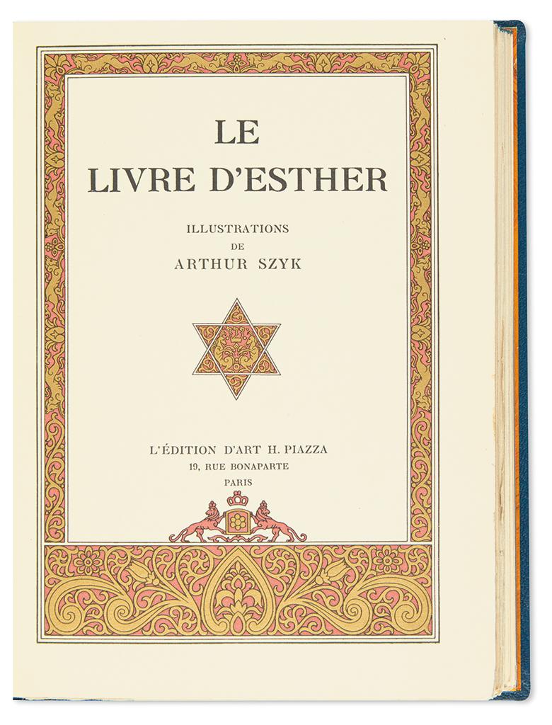 (BIBLE.) SZYK, ARTHUR. Le Livre dEsther.