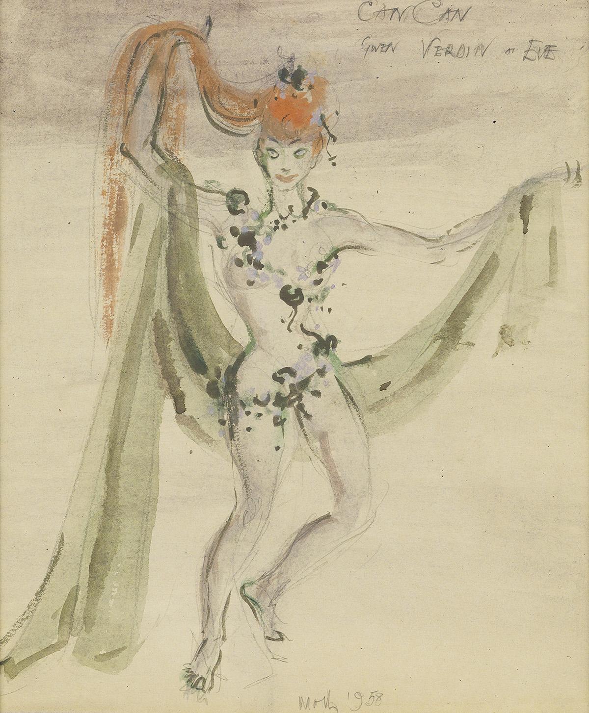 (THEATER / COSTUME) MOTLEY. [ELIZABETH MONTGOMERY.] Gwen Verdon as Eve.