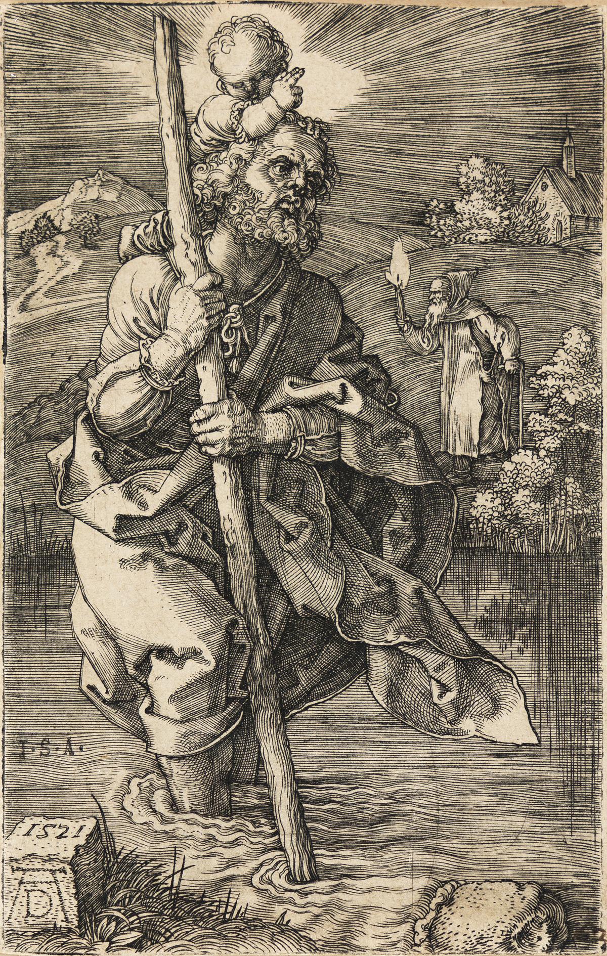 ALBRECHT DÜRER St. Christopher, Facing to the Right.