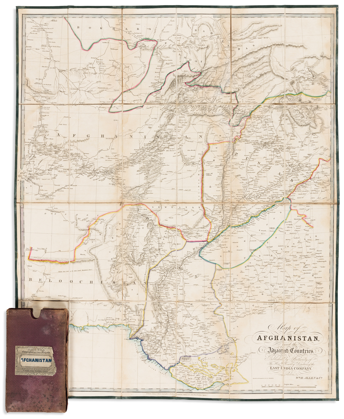 (AFGHANISTAN.) Allen, William H. Map of Afghanistan and the Adjacent Countries