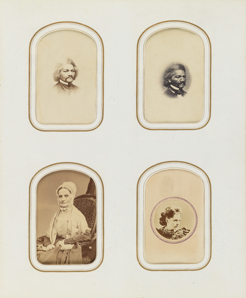 (CARTES-DE-VISITE) Victorian album containing 100 remarkable carte-de-visite portraits of important American and European cultural figu