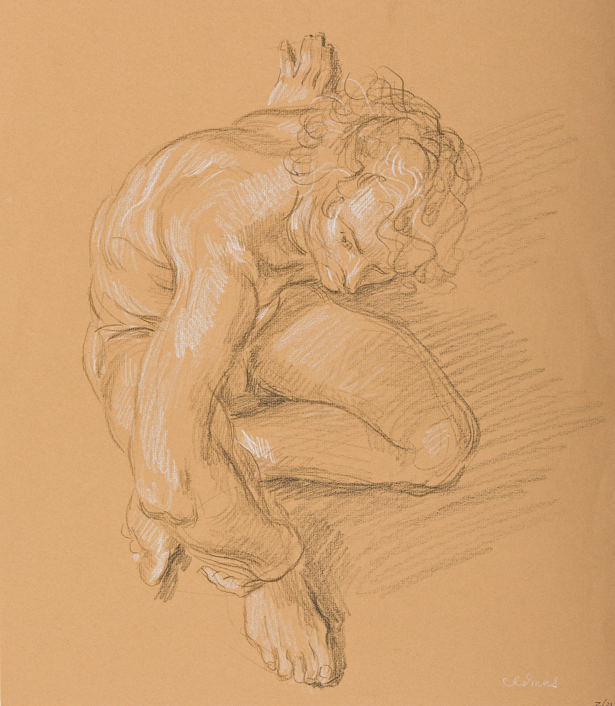 PAUL-CADMUS-(1904---1999)-Seated-Male-Nude