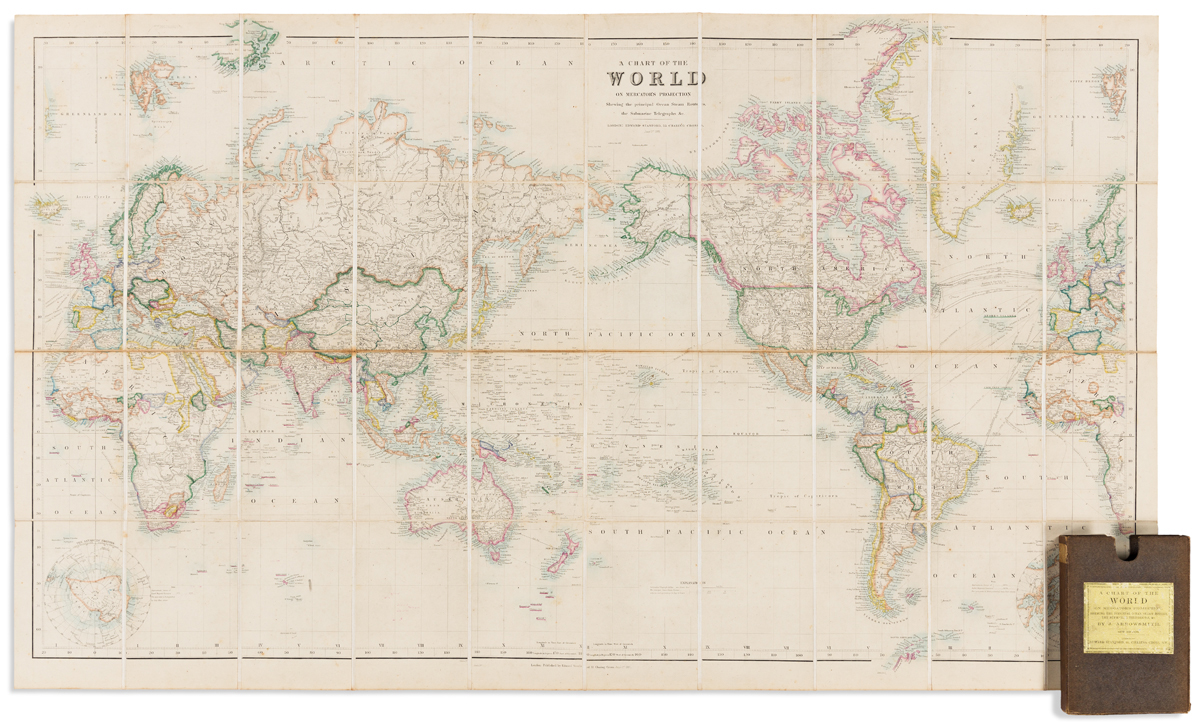 ARROWSMITH, JOHN; and EDWARD STANFORD. A Chart of the World on Mercators Projection