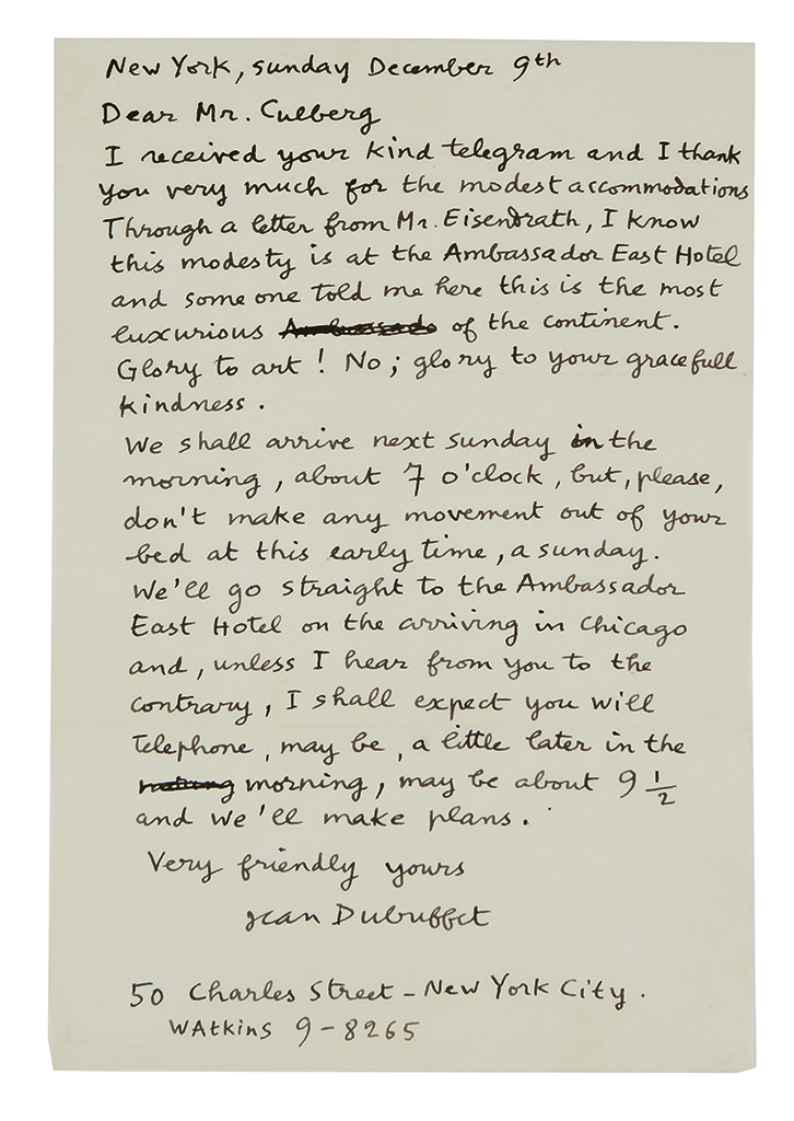 DUBUFFET-JEAN-Archive-of-28-items-Signed-or-Inscribed-and-Si