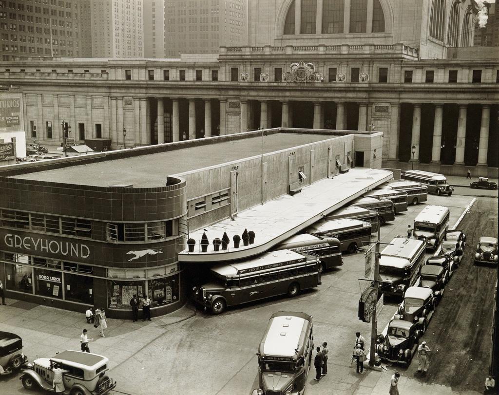 BERENICE ABBOTT (1898-1991) Greyhound Bus Terminal.