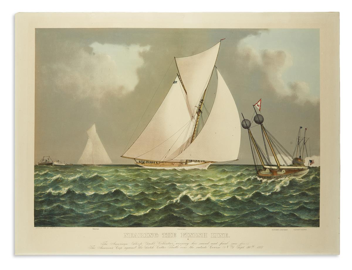 CURRIER--IVES-Nearing-the-Finish-Line