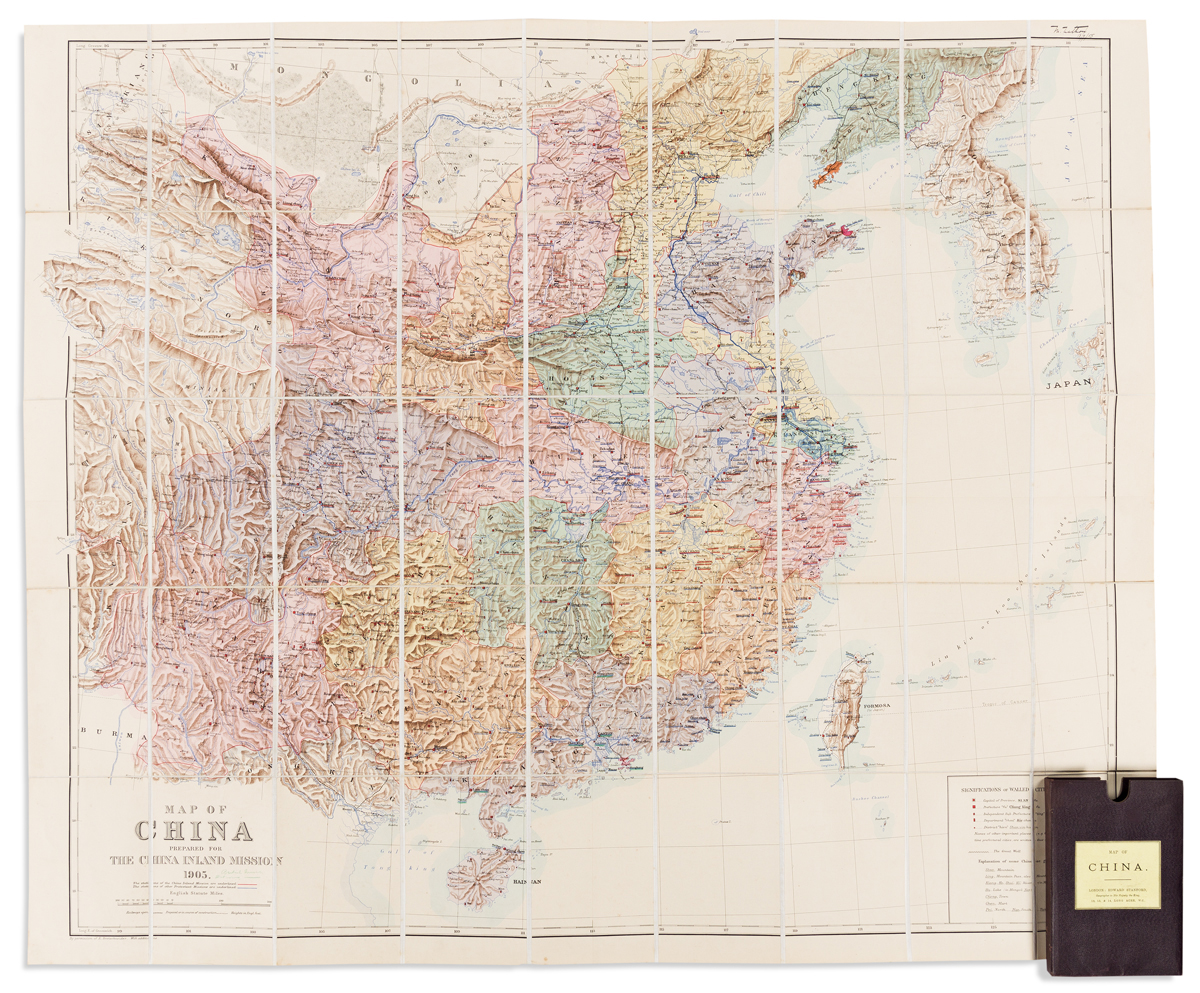 (CHINA.) Bretschneider, Emil; and Edward Stanford. Map of China Prepared for the China Inland Mission.