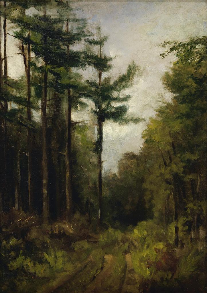 EDWARD M. BANNISTER (1828 - 1901) The Turning Lane.