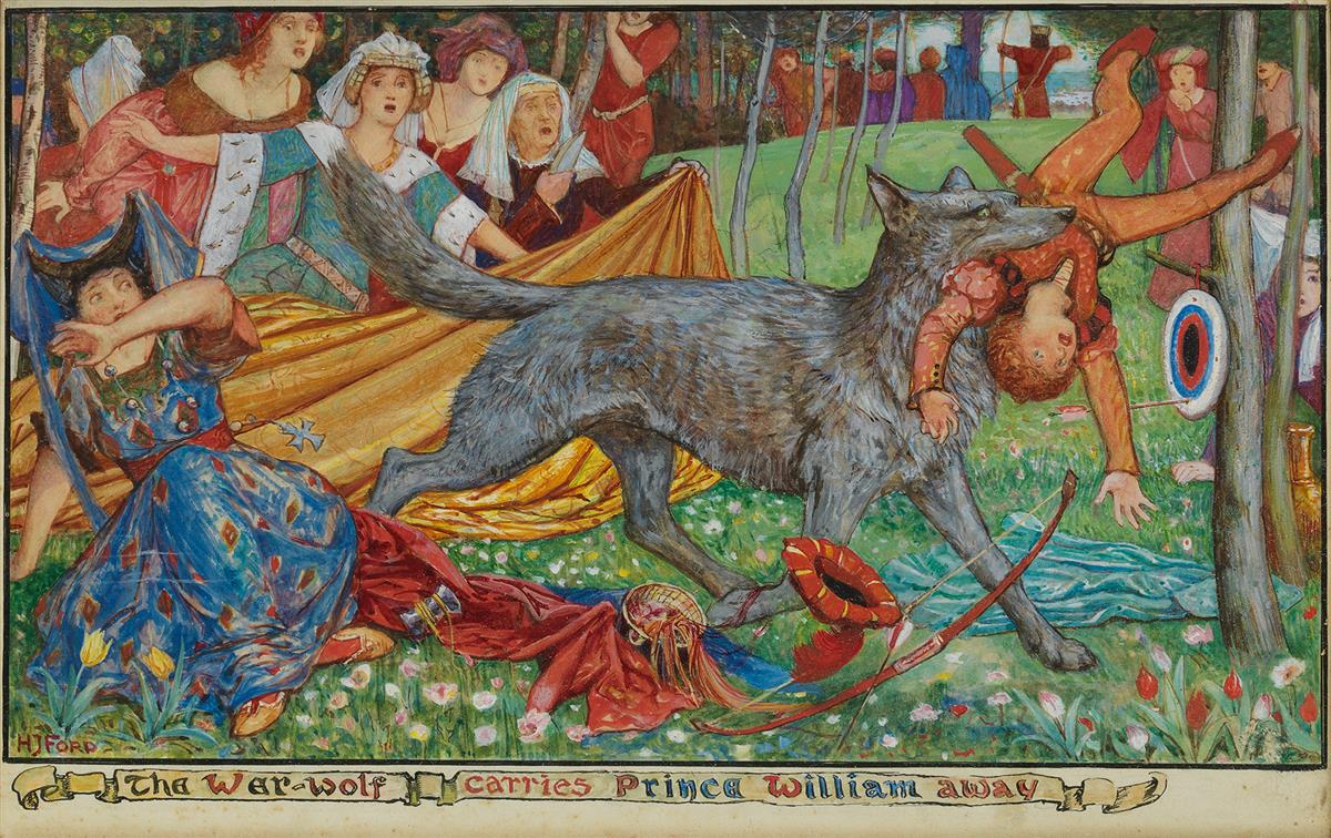 CHILDRENS HENRY JUSTICE FORD. The Wer-wolf Carries Prince William Away.