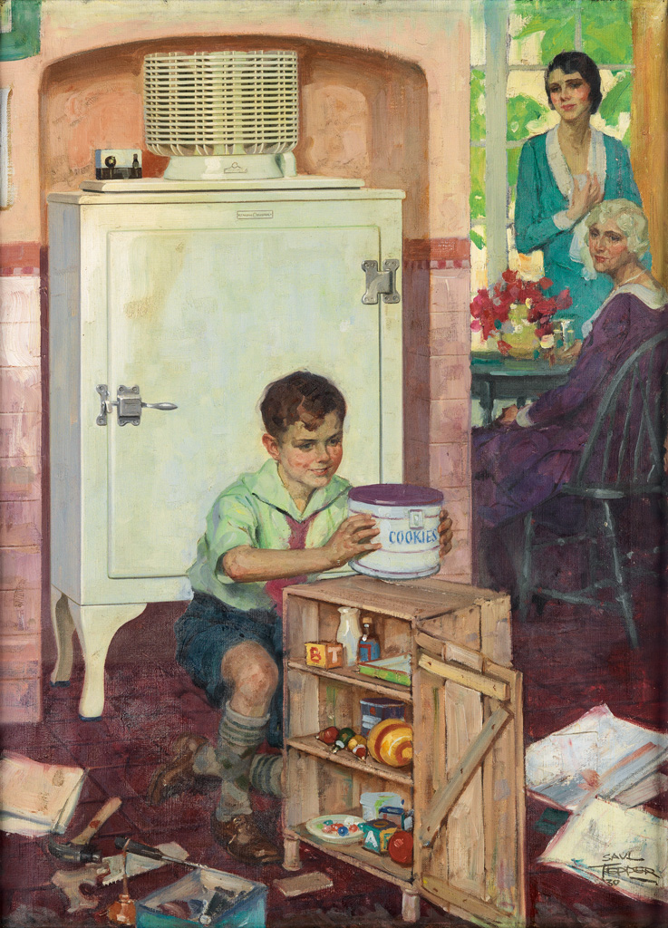 (ADVERTISING) SAUL TEPPER. General Electric Monitor Top Refrigerator.