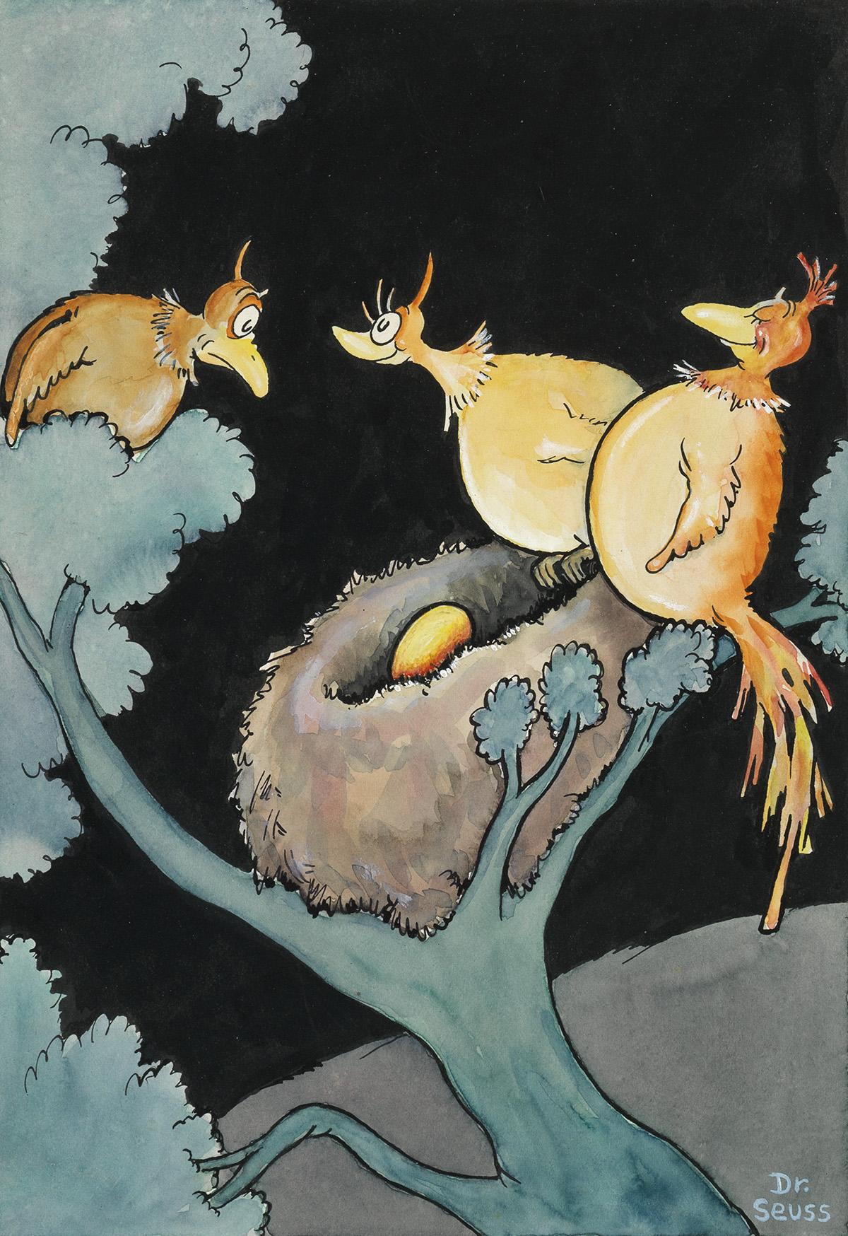 CHILDRENS-CALENDAR-BIRDS-DR-SEUSS-(THEODOR-GEISEL)-Its-our-f