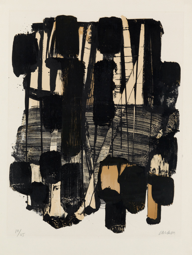 PIERRE SOULAGES Lithographie no. 11.