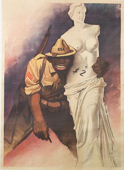 (MILITARY--WORLD WAR II--RACIST PROPAGANDA.) BOCCASILE, GINO. Venus de Milo (supplied title).
