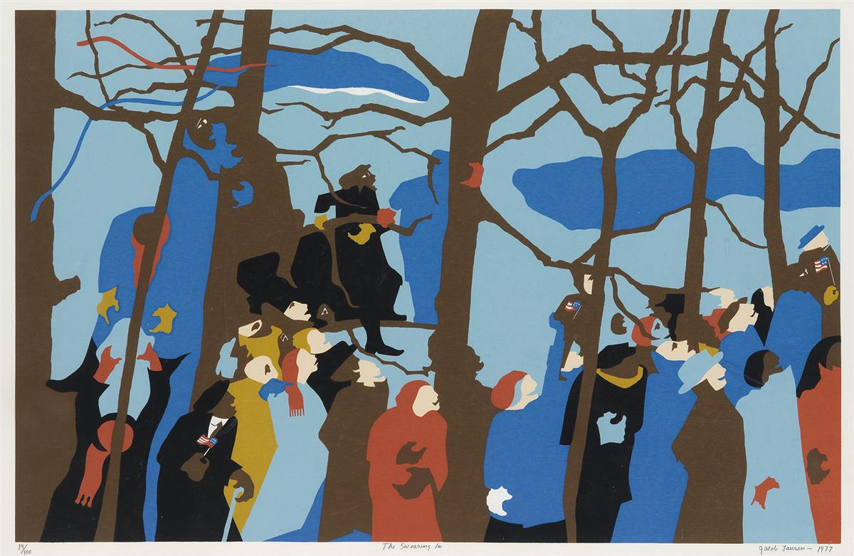 JACOB-LAWRENCE-(1917---2000)-The-Swearing-In