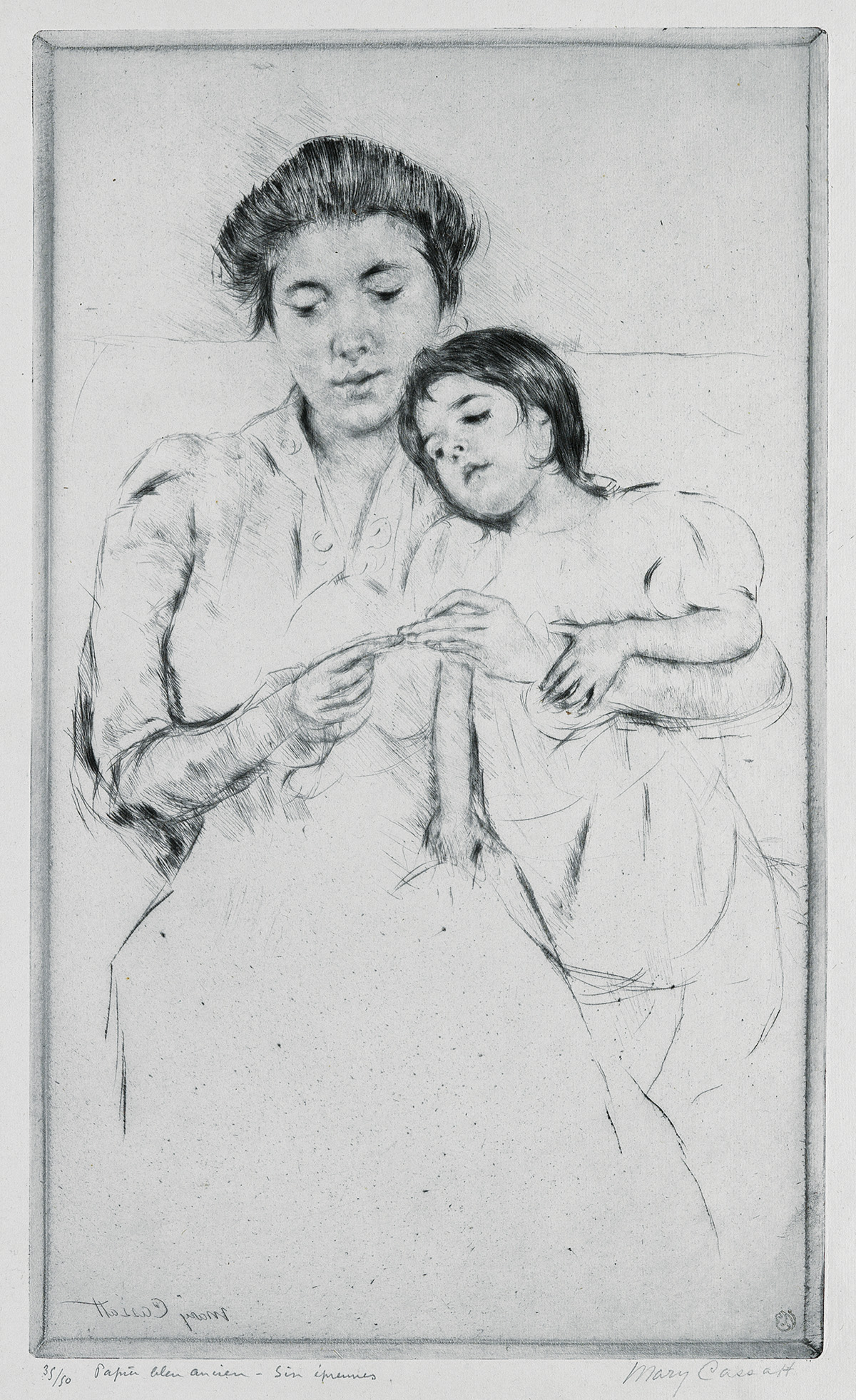 MARY-CASSATT-The-Crocheting-Lesson