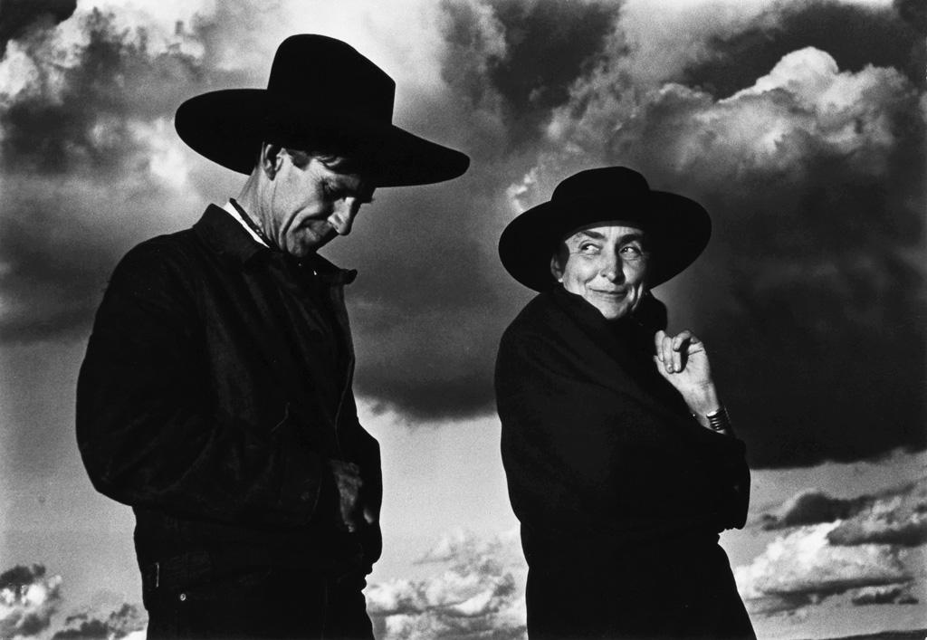 ANSEL ADAMS (1902-1984) Georgia OKeeffe and Orville Cox.