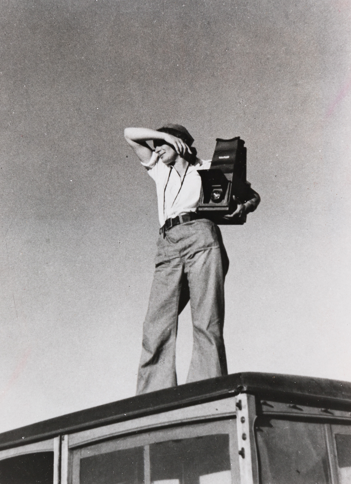 PAUL TAYLOR (1895-1984) Dorothea Lange in Texas.