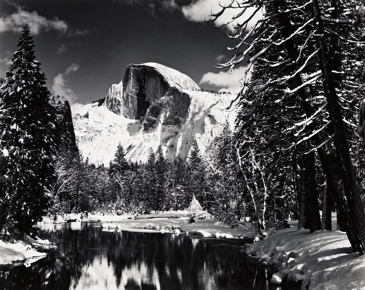 ANSEL ADAMS (1902-1984) Half Dome, Winter.
