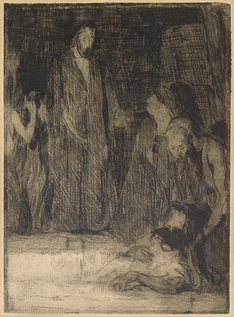 HENRY OSSAWA TANNER (1859 - 1937) Raising of Lazarus.