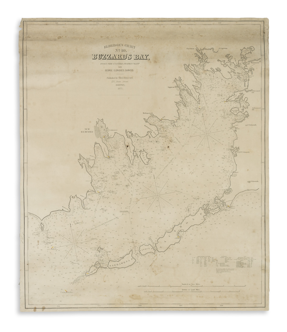 (CHARTS.) Eldridge, George. Eldridges Chart No. 10. Buzzards Bay.