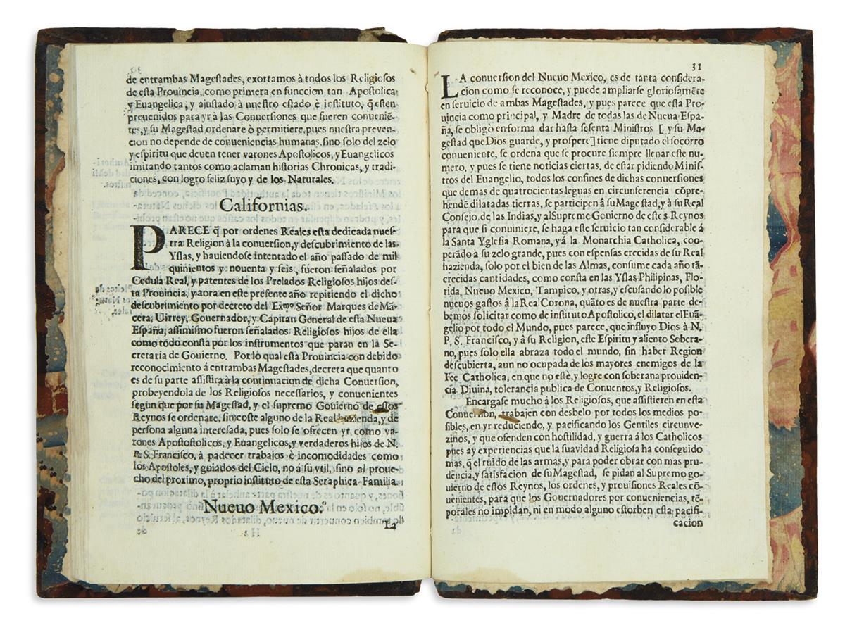 (CALIFORNIA.) Rua, Hernando de la; compiler. Constituciones, y leyes municipales de esta Provincia del S. Evangelio.
