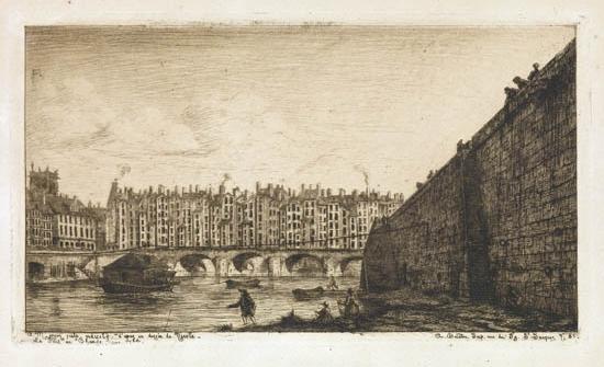 CHARLES-MERYON-Le-Pont-au-Change-vers-1784