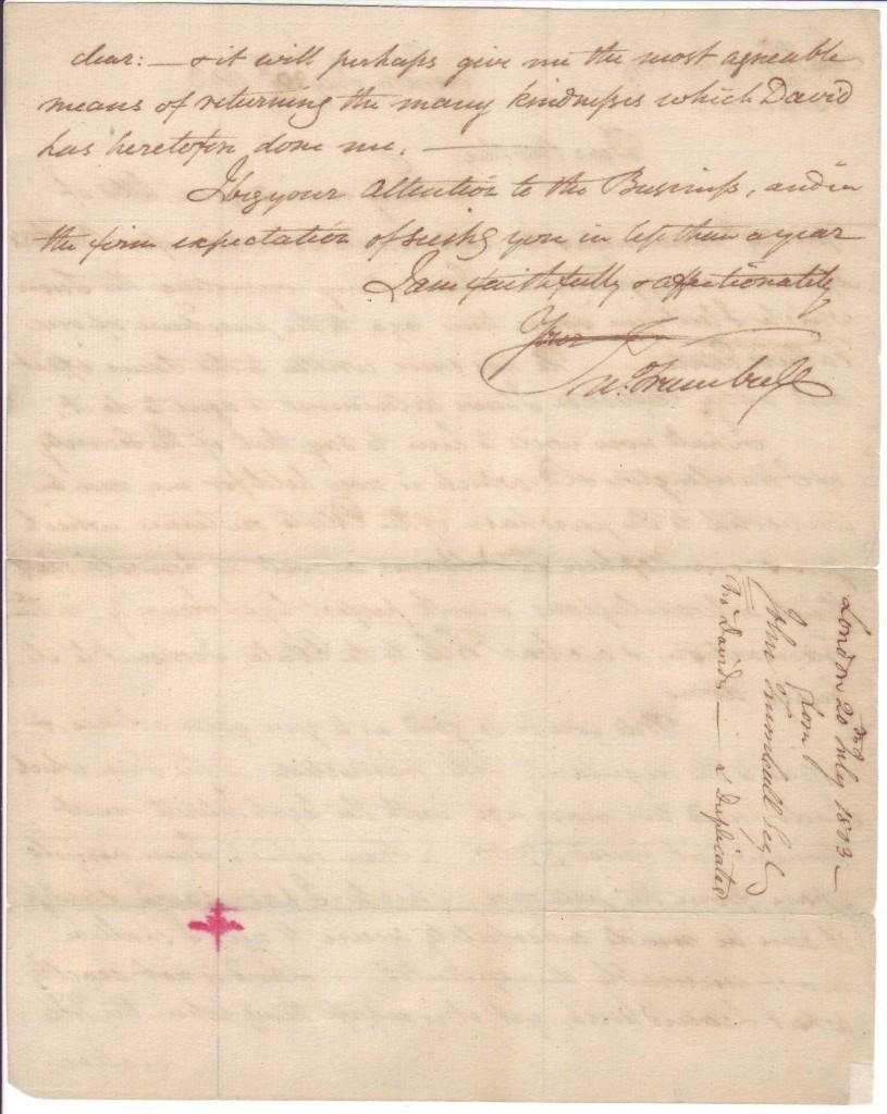 TRUMBULL-JOHN-Autograph-Letter-Signed-JnTrumbull-to-his-brot