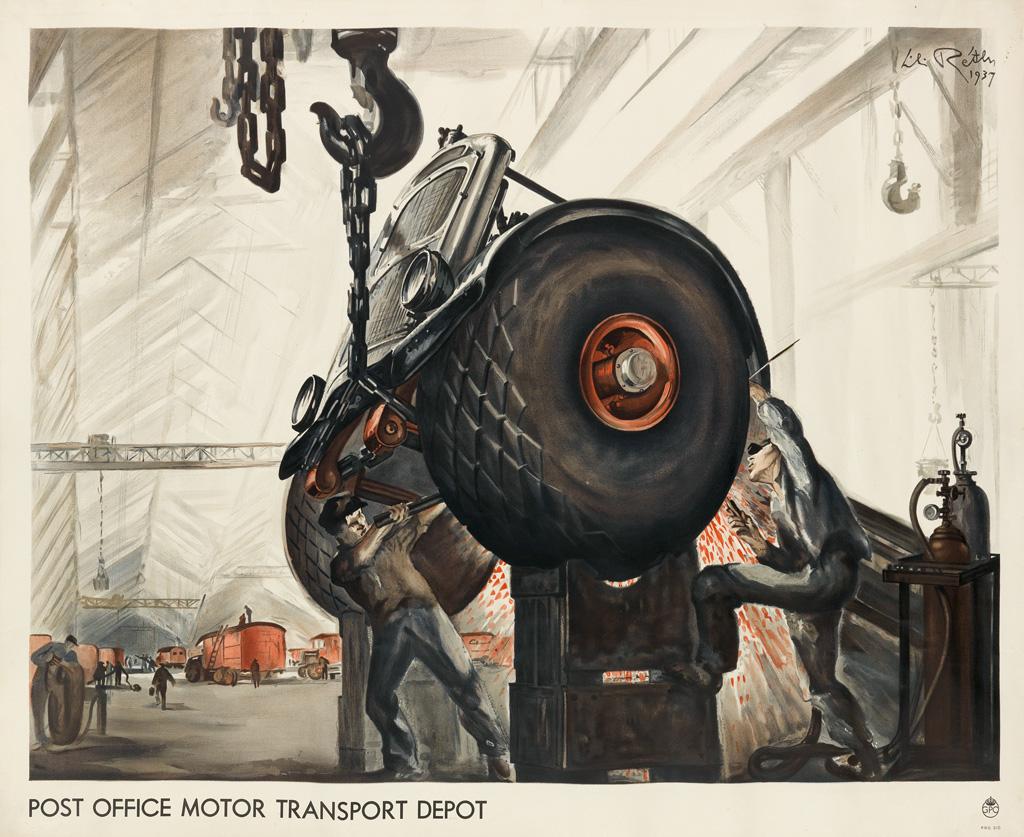 LILI-RETHI-(1896-1969)-POST-OFFICE-MOTOR-TRANSPORT-DEPOT-193
