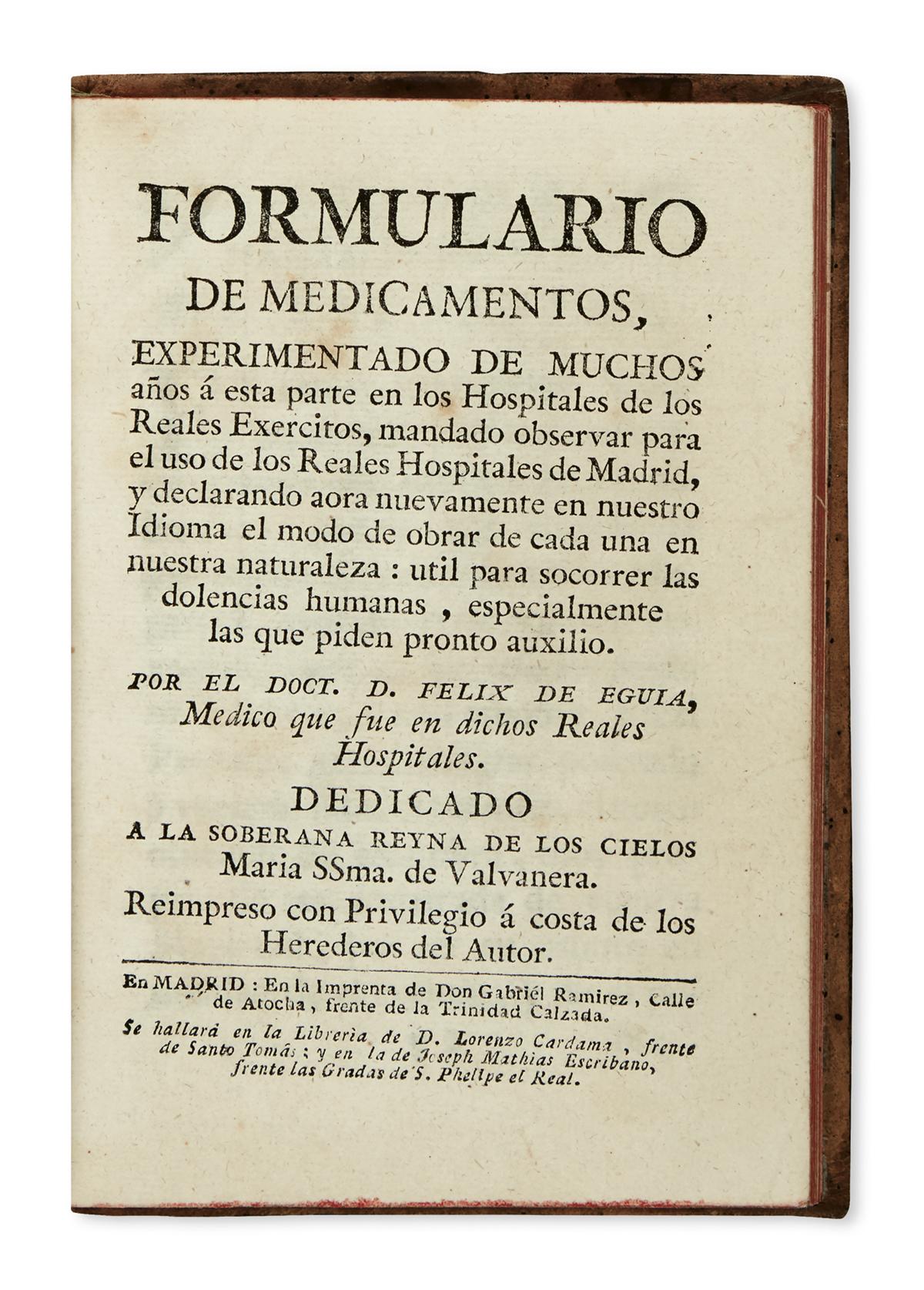 MEDICINE--EGUÍA-Y-ARRIETA-FÉLIX-FERMÍN-DE-translator-Formula