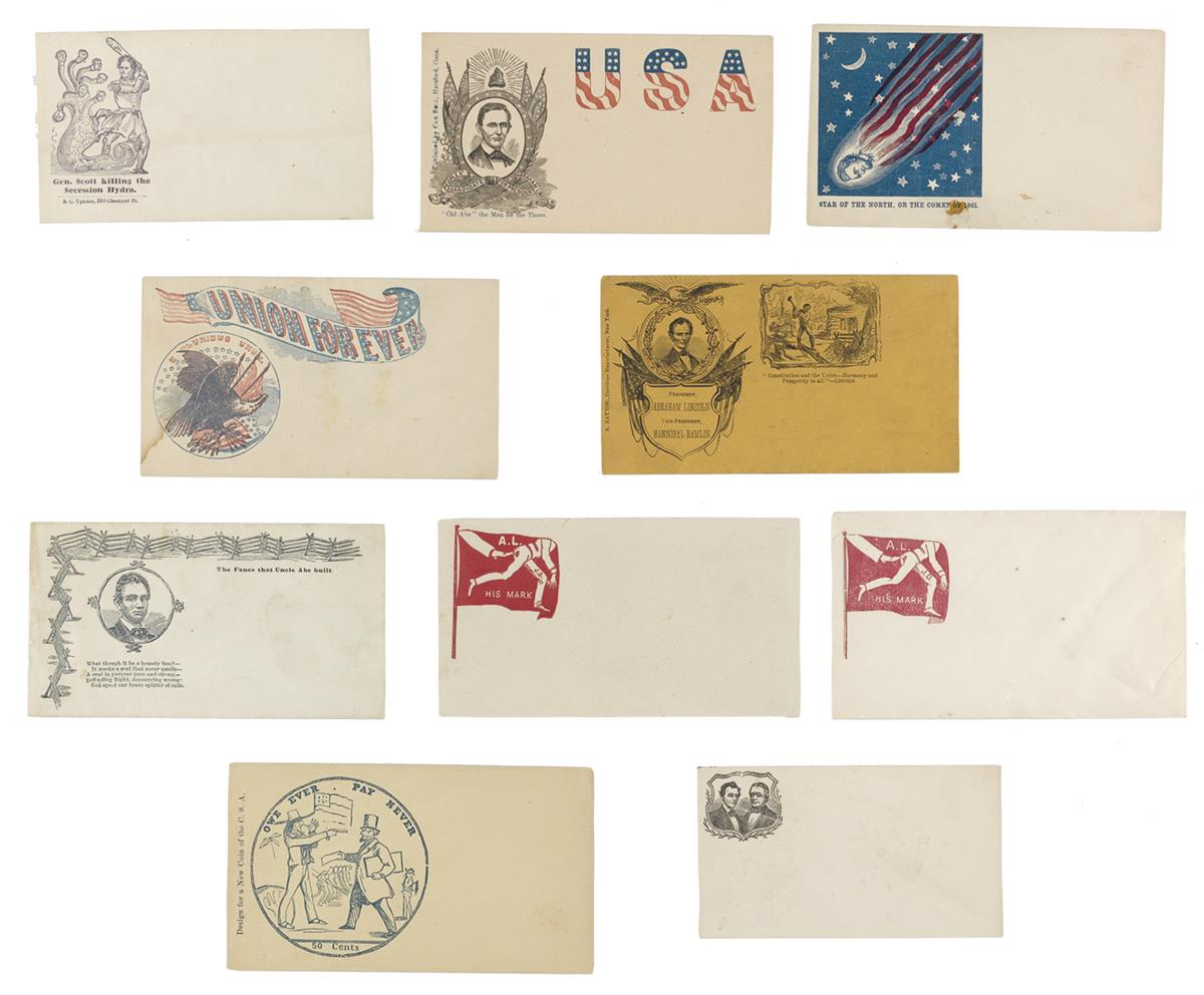 (EPHEMERA)-Group-of-10-unused-patriotic-covers-relating-to-L