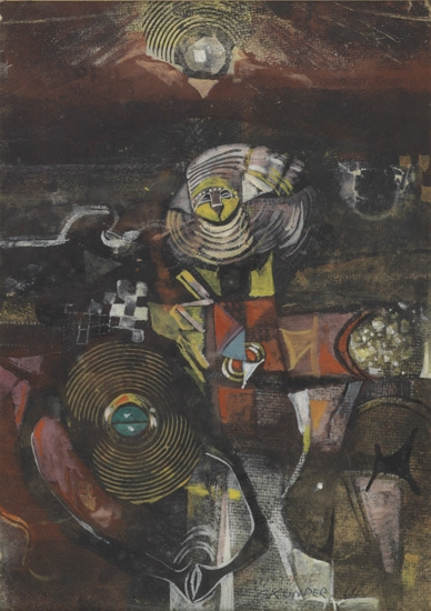 ALEXANDER SKUNDER BOGHOSSIAN (1937 - 2003) Untitled (Abstract Composition).