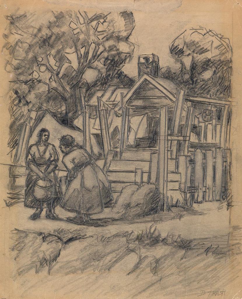 DOX THRASH (1893-1965) Afternoon Chat.