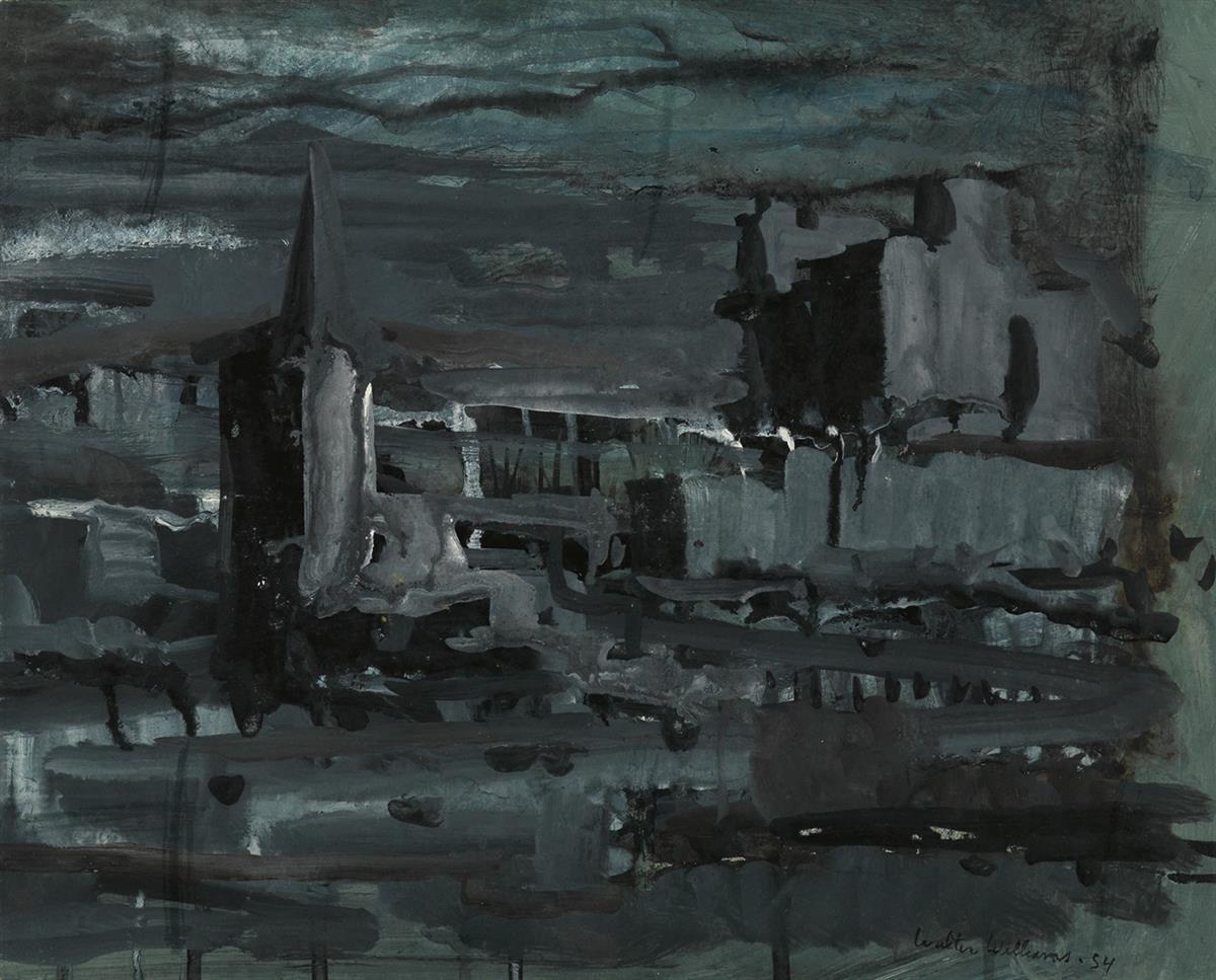 WALTER-WILLIAMS-(1920---1988)-Untitled-(Cityscape)