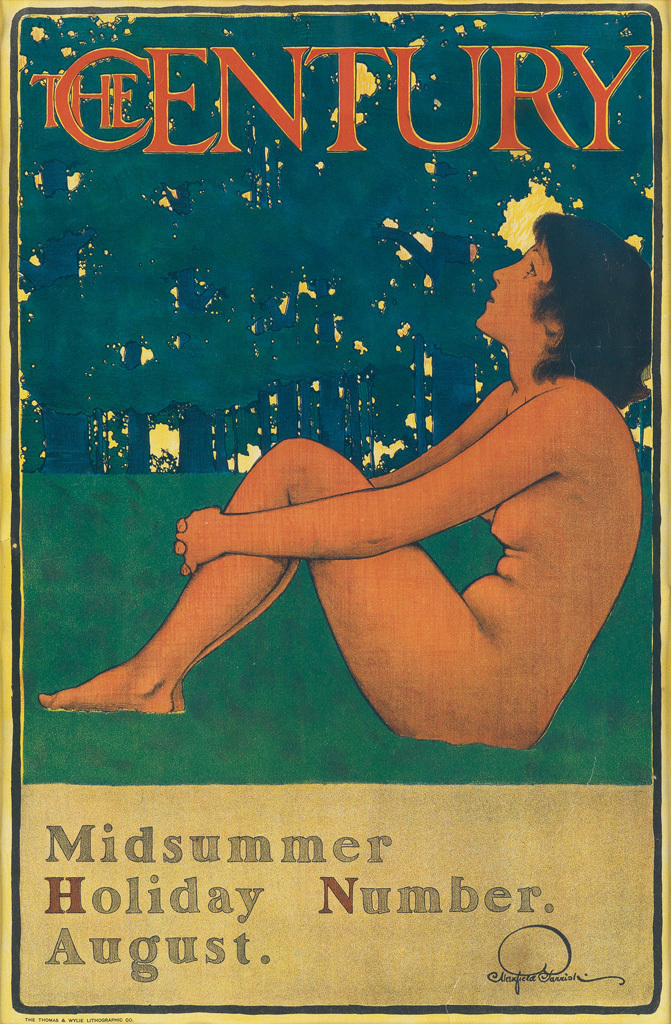 MAXFIELD PARRISH (1870-1966).  THE CENTURY / MIDSUMMER HOLIDAY NUMBER. 1897. 18x12 inches, 47x31 cm. Thomas A. Wylie Lithographing Co.,