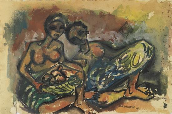 ALEXANDER-SKUNDER-BOGHOSSIAN-(1937---2003)-Two-works-on-pape