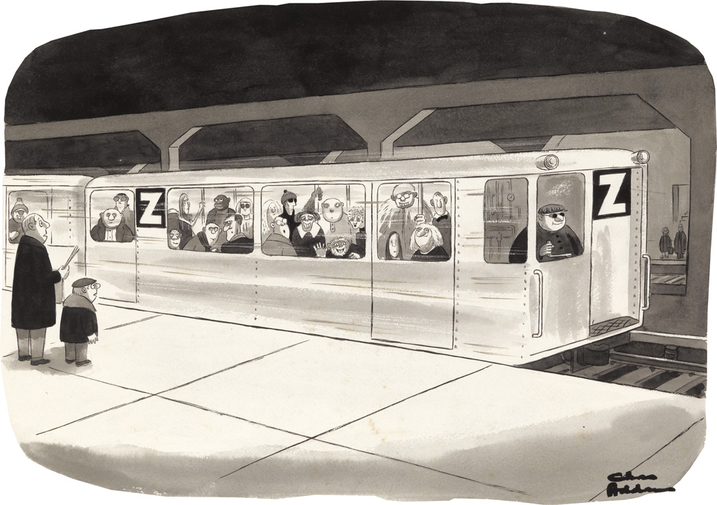 (THE-NEW-YORKER--PUBLIC-TRANSIT--ADDAMS-FAMILY)-CHARLES-ADDA