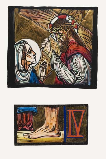 ALLAN-ROHAN-CRITE-(1910---)-Christ-Meet-His-Mother