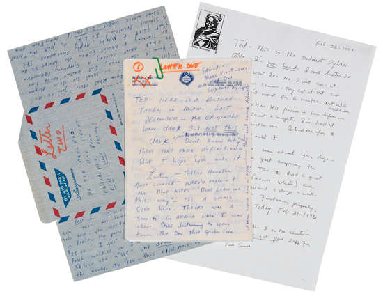 (MUSIC) SIMONE, NINA Group of thirteen Autograph Letters Signed Various sizes; some as short as an aerogr...
