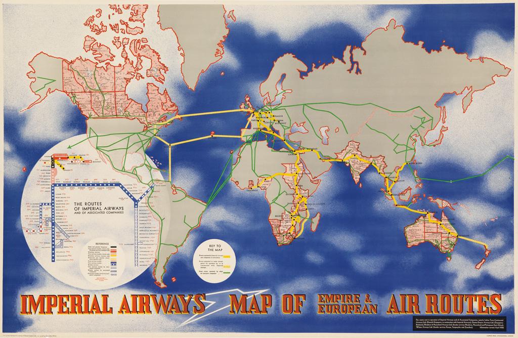 LÁSZLÓ-MOHOLY-NAGY-(1895-1946)-IMPERIAL-AIRWAYS--MAP-OF-EMPI