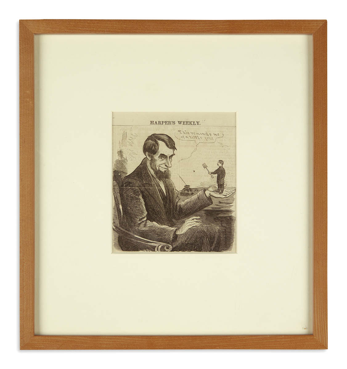 (EPHEMERA)-Large-group-of-Lincoln-related-engravings-and-car