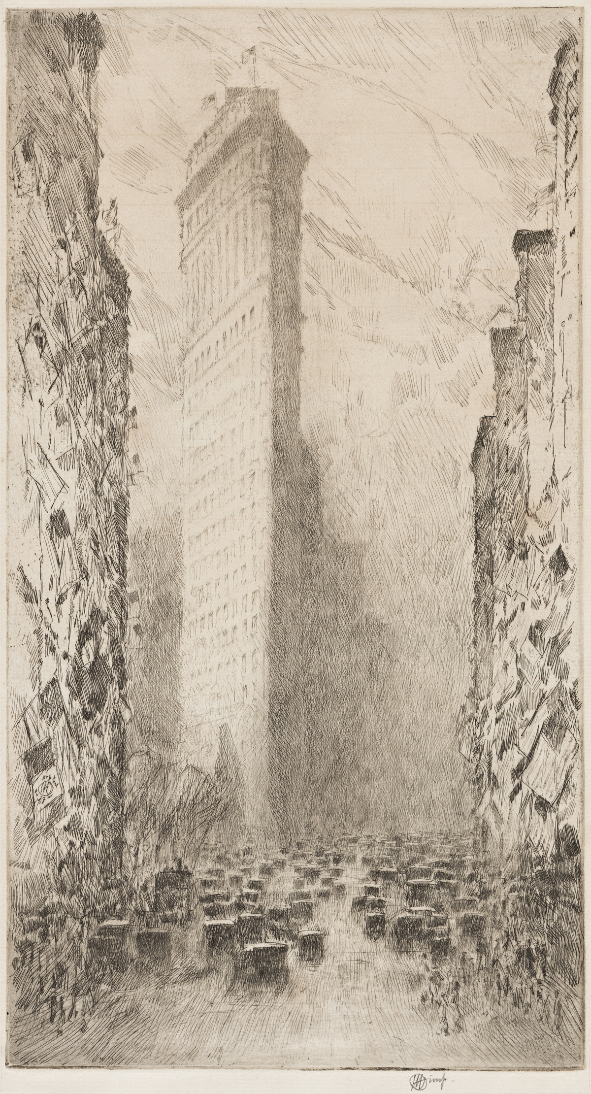 CHILDE HASSAM Washingtons Birthday, Fifth Avenue and 23rd Street.