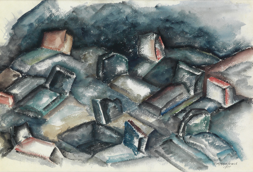 NORMAN LEWIS (1909 - 1979) Untitled (Abstracted Landscape).