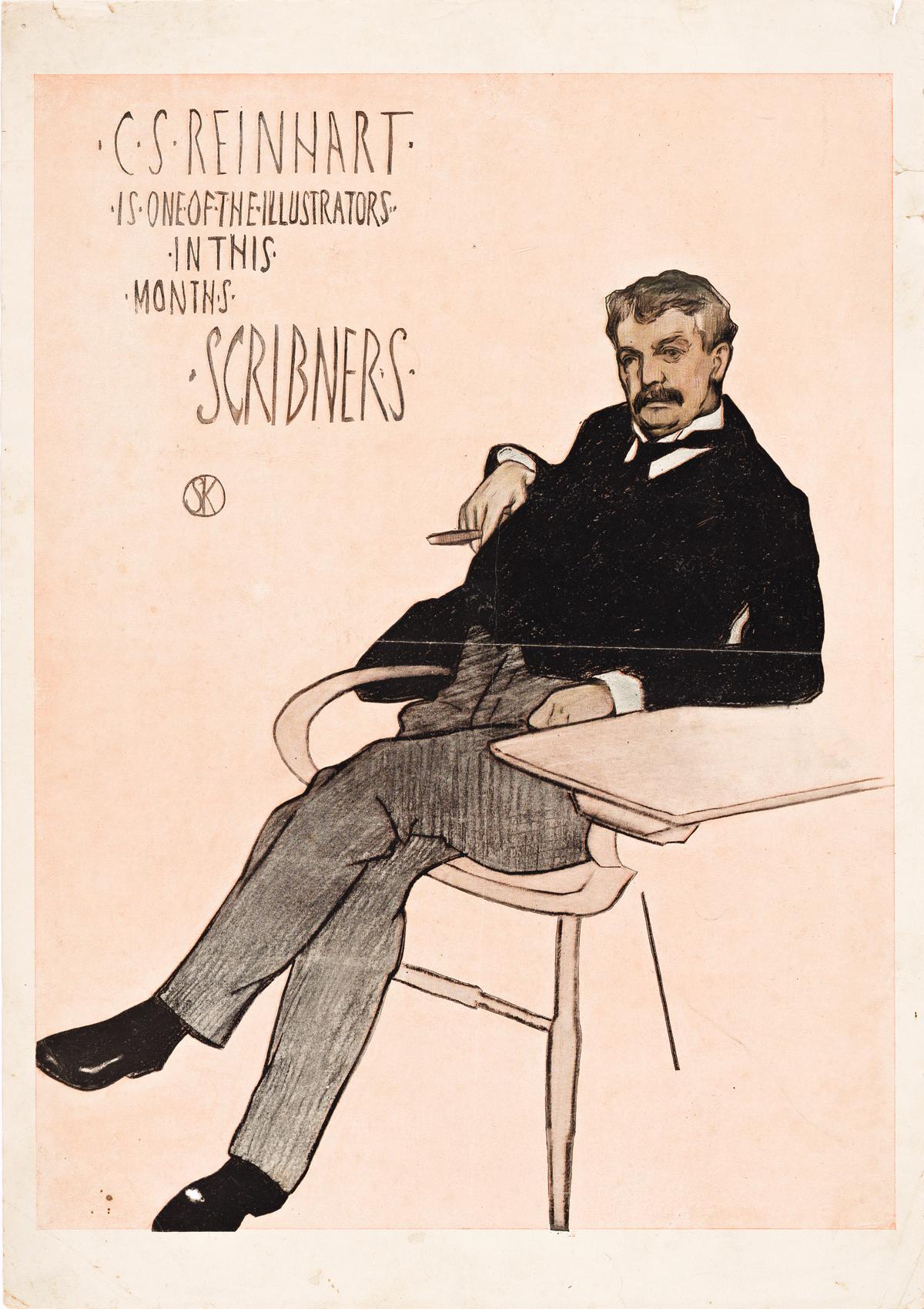 WILLIAM SERGEANT KENDALL (1869-1938).  SCRIBNERS / C.S. REINHART. 1895. 17x12 inches, 44x31 cm.