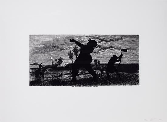 KARA-WALKER-(1969-----)-Crest-of-Pine-Mountain-where-General